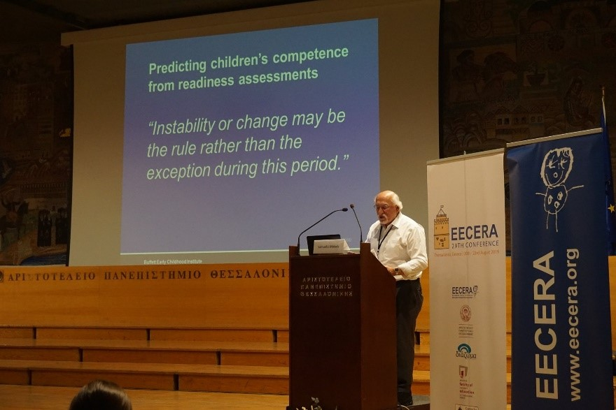 Samuel Meisels presents his keynote at EECERA 2019 in Thessaloniki, Greece | EECERA